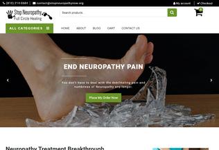 Website stopneuropathynow.org desktop preview