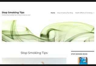 Website stopsmoking-tips.org desktop preview