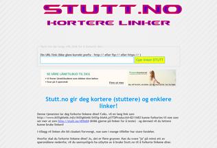 Website stutt.no desktop preview