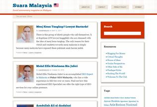 Website suaramalaysia.com desktop preview