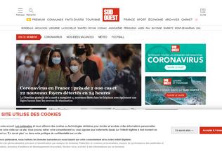 Website sudouest.fr desktop preview