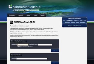 Website suomimatkailee.fi desktop preview