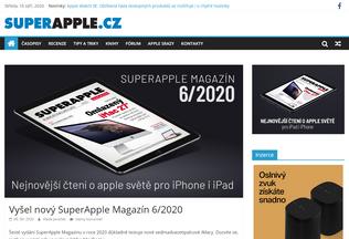 Website superapple.cz desktop preview