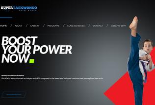 Website supertaekwondo.net desktop preview