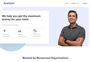 Website sureclaim.in desktop preview