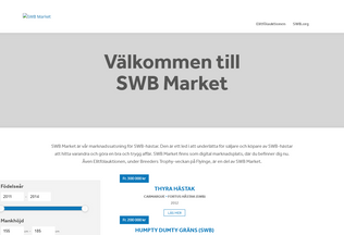 Website swbmarket.se desktop preview