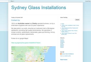 Website sydneyglassinstallations.blogspot.com desktop preview