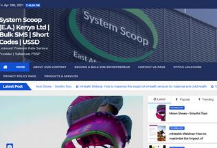 Website systemscoopkenya.com desktop preview