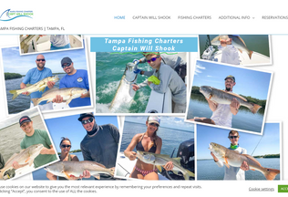 Website tampaflfishingcharters.com desktop preview