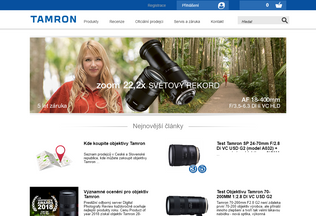Website tamron-objektivy.cz desktop preview