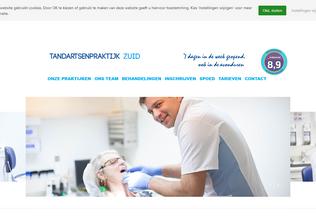 Website tandartsenpraktijkzuid.nl desktop preview