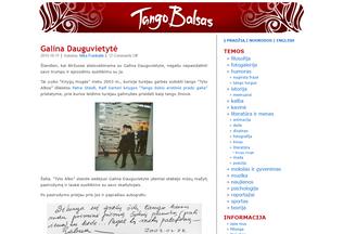Website tangobalsas.lt desktop preview