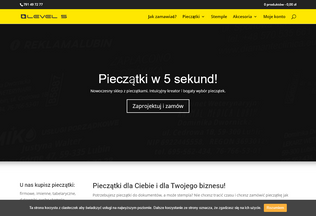 Website taniepieczatki.pl desktop preview