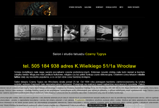 Website tatuazewroclaw.pl desktop preview
