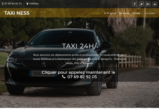 Website taxiness.fr desktop preview