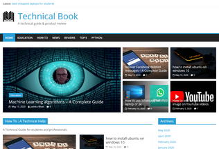 Website techbook.in desktop preview