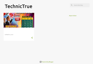 Website technictrue.blogspot.in desktop preview