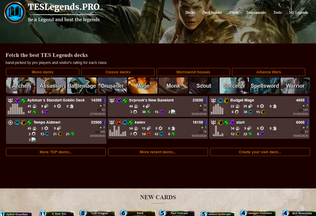 Website teslegends.pro desktop preview