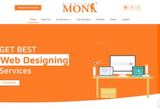 Website thecreativemonk.in desktop preview