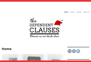 Website thedependentclauses.org desktop preview