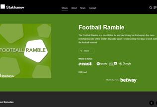 Website thefootballramble.co.uk desktop preview
