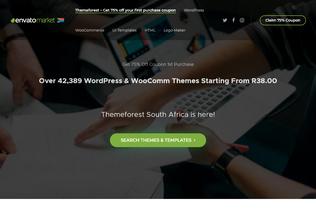 Website themeforest.co.za desktop preview