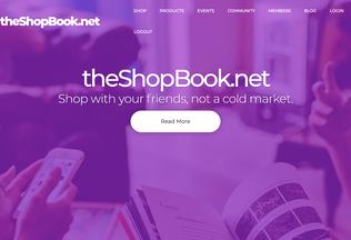 Website theshopbook.net desktop preview