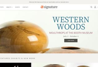 Website thesignatureshop.com desktop preview