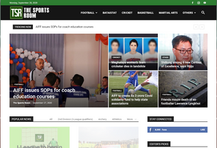 Website thesportsroom.in desktop preview
