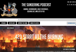Website thesundering.net desktop preview