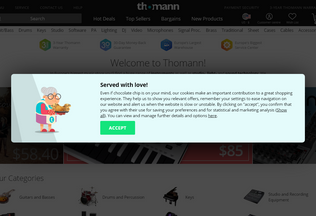 Website thomann.de desktop preview