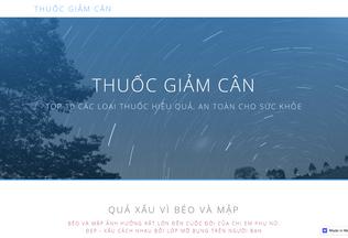 Website thuocgiamcan.webflow.io desktop preview