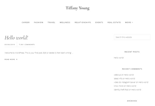 Website tiffanyyoung.co desktop preview