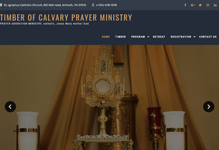 Website timberofcalvary.org desktop preview