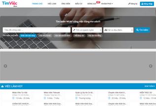Website timviec.com.vn desktop preview