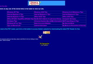 Website tiproom.net desktop preview