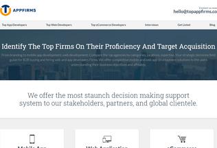 Website topappfirms.co desktop preview