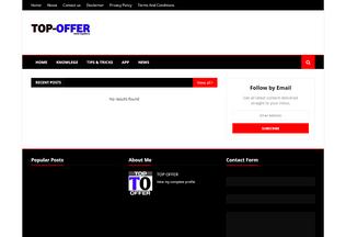 Website topoffer.in desktop preview