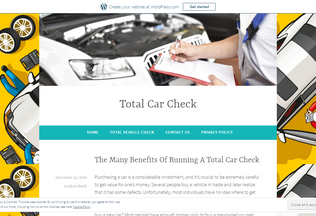 Website totalcarcheck.wordpress.com desktop preview