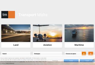 Website transport.gov.mt desktop preview