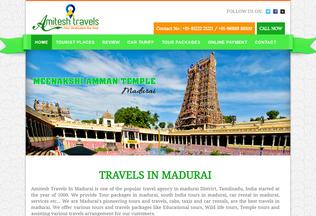 Website travelsinmadurai.co.in desktop preview