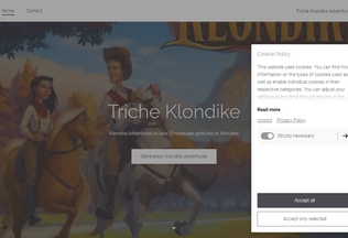 Website triche-klondike-adventures.jimdosite.com desktop preview