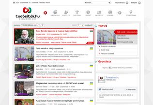 Website tudositok.hu desktop preview
