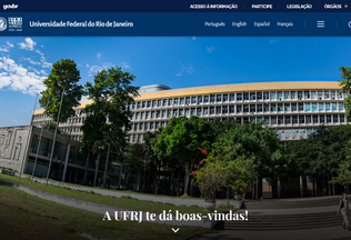 Website ufrj.br desktop preview