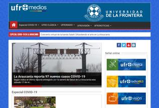 Website ufromedios.cl desktop preview