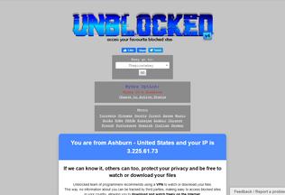 Website unblocked2.me desktop preview