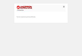 Website uncommonreporters.com.ng desktop preview