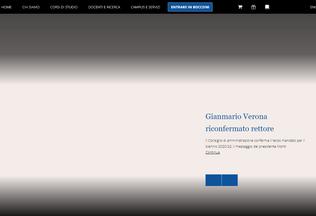 Website unibocconi.it desktop preview