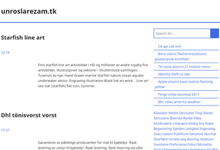 Website unroslarezam.tk desktop preview