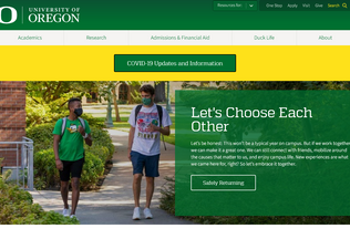 Website uoregon.edu desktop preview